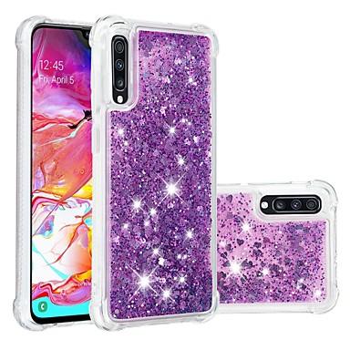 hoesje Voor Samsung Galaxy A6 (2018) / A6+ (2018) / Galaxy A7(2018) Schokbestendig / Stromende vloeistof / Transparant Achterkant Glitterglans Zacht TPU
