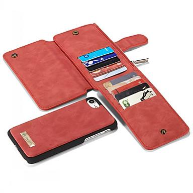 זול מגנים לאייפון-מגן עבור Apple iPhone XS / iPhone XR / iPhone XS Max מחזיק כרטיסים / עמיד בזעזועים / נוזל זורם כיסוי אחורי אחיד רך עור אמיתי