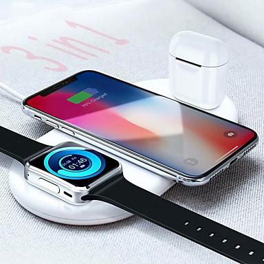 Недорогие Аксессуары для смарт-часов-Беспроводное зарядное устройство floveme 3 в 1 для мобильных телефонов Apple iwatch airpods 7.5 Вт / 10 Вт для быстрой зарядки iphone 11 pro max / 11 pro / 11 / xs / xs max / xr / x iwatch 5/4/3/2/1 a