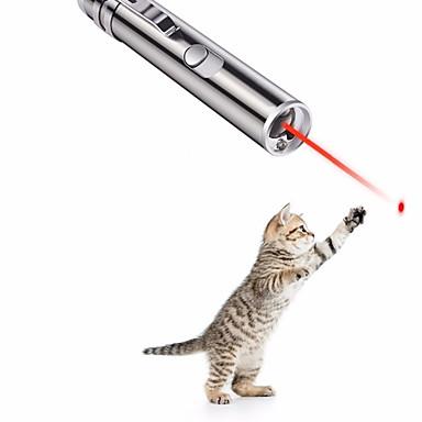 Laser Igračke Interaktivna igračka Psi Mačke Ljubimci Igračke za kućne ljubimce 1pc Pet Friendly Fokus igračka Iskričav Aluminijum Poklon