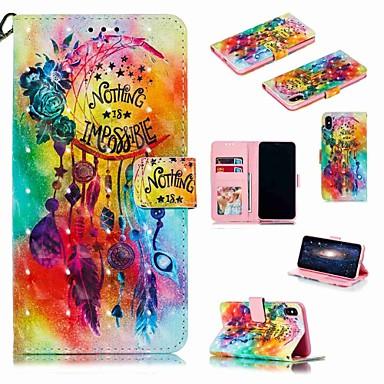 Недорогие Кейсы для iPhone 7 Plus-чехол для яблока iphone xr / iphone xs max flip / с подставкой / противоударный чехол для всего тела мультфильм / цветочная жесткая искусственная кожа для iphone 6 / 6s plus / 7/8 plus / xs / x