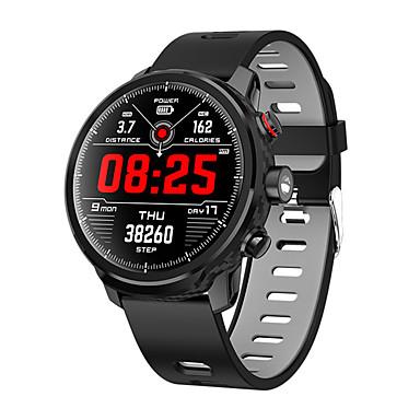 رخيصةأون ساعات ذكية-L5 الذكية ووتش الرجال ip68 للماء متعددة الرياضة وضع القلب معدل توقعات الطقس بلوتوث smartwatch الاستعداد 100 يوما