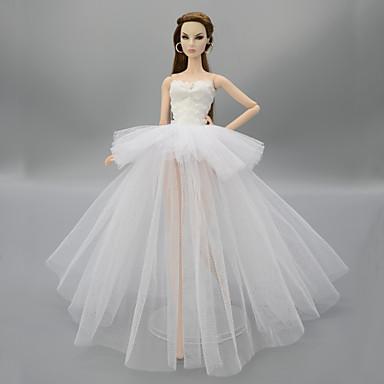 olcso Barbie baba ruházat-Baba ruha mert Barbie Virágos / Botanikus Poliészter Ruha mert Lány Doll Toy
