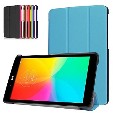 رخيصةأون LG أغطية / كفرات-غطاء من أجل LG LG G Pad III 8.0 V525 ضد الصدمات / مع حامل / نحيف جداً غطاء كامل للجسم لون سادة قاسي جلد PU