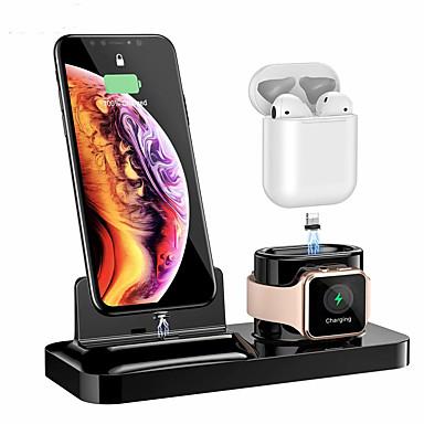 Недорогие Беспроводные зарядные устройства-беспроводной кронштейн для зарядки для airpods2 iphone iwatch4 магнитный три в одном