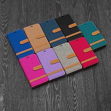 Недорогие Кейсы для iPhone 6-чехол для яблока iphone xr / iphone xs max магнитный / откидной / с подставкой для всего корпуса футляр для плитки твердый текстиль для iphone 5 / se / 5s / 6 / 6s plus / 7/8 plus / xs / x