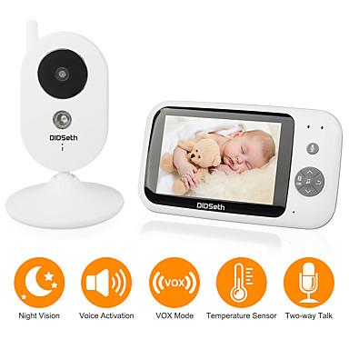 رخيصةأون كاميرات المراقبة IP-didseth 0.3 ميجابكسل فيديو لاسلكي مراقبة الطفل cmos / micro / ptz وإمالة 131 درجة التلقائي للرؤية الليلية بالأشعة تحت الحمراء نطاق 5 م 2.4 غيغاهرتز عرض القرار 640x480 أغنية لحن المدمج