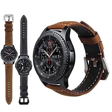 voordelige Horlogebandjes voor Samsung-lederen retro polsbandje polsband horlogebandje voor samsung galaxy horloge 46mm / versnelling s3 classic / frontier smart watch