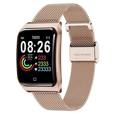 رخيصةأون ساعات ذكية-F9 smartwatch الفولاذ المقاوم للصدأ BT اللياقة البدنية تعقب دعم إخطار ومراقبة معدل ضربات القلب متوافق أبل / سامسونج / الهواتف الروبوت