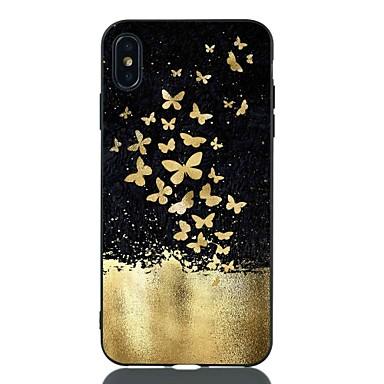 voordelige iPhone 7 hoesjes-hoesje Voor Apple iPhone XS / iPhone XR / iPhone XS Max Schokbestendig / Patroon Achterkant Vlinder Zacht TPU