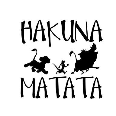 olcso Autóipari külső kiegészítők-13.8cm * 13.3cm hakuna matata oroszlán király simba autóstílusú vinil autó matrica