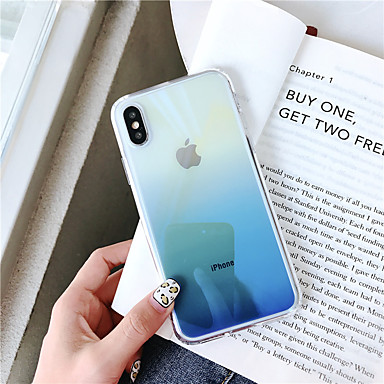 Недорогие Кейсы для iPhone 7 Plus-Кейс для Назначение Apple iPhone XS / iPhone XR / iPhone XS Max Покрытие Кейс на заднюю панель Градиент цвета Твердый Акрил