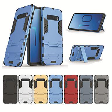رخيصةأون إكسسوارات سامسونج-غطاء من أجل Samsung Galaxy Galaxy S10 / Galaxy S10 Plus ضد الصدمات / ضد الغبار / مقاوم للماء غطاء خلفي لون سادة قاسي TPU / الكمبيوتر الشخصي
