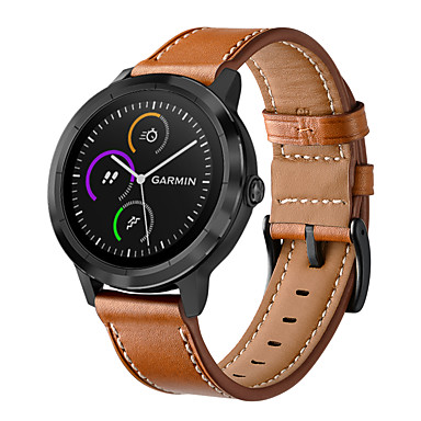 voordelige Smartwatch-accessoires-Horlogeband voor Vivoactive 3 Garmin Moderne gesp Echt leer Polsband