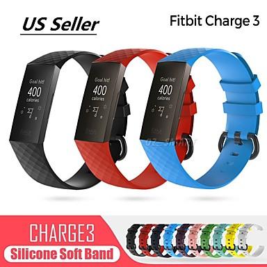 voordelige Smartwatch-accessoires-Horlogeband voor Fitbit Charge 3 Fitbit Sportband Stof / Silicone Polsband