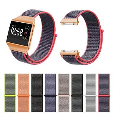 Недорогие Аксессуары для смарт-часов-Fitbit ионные полосы дышащие удобные регулируемые закрытие замена запястья руки нейлоновые браслеты на липучке для fitbit ионные