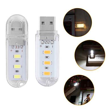olcso LED izzó újdonságok-1db hordozható mini 3-vezetékes usb fény éjszakai lámpa kültéri kempingfény smd 5730 PC asztali laptop notebook olvasó hatalom bank