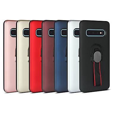 voordelige Galaxy A-serie hoesjes / covers-hoesje Voor Samsung Galaxy S9 / S9 Plus / S8 Plus Schokbestendig / Ringhouder Achterkant Effen PC