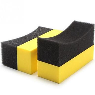 olcso Szerszámok & felszerelések-auto u-alakú gumiabroncs viasz polírozó összetevő szivacs gumiabroncs tisztító szivacs ív perem szivacs