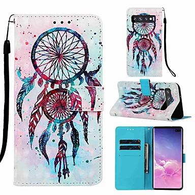 voordelige Galaxy S-serie hoesjes / covers-hoesje voor Samsung Galaxy S8 plus / s9 plus patroon / flip / met standaard camerahuizen cartoon hard pu leer voor galaxy s10 / galaxy s10 plus / Galaxy S10 e