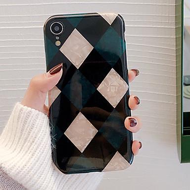 Недорогие Кейсы для iPhone 6-Кейс для Назначение Apple iPhone XS / iPhone XR / iPhone XS Max Защита от удара / Защита от пыли / Защита от влаги Кейс на заднюю панель Геометрический рисунок Мягкий ТПУ