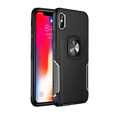 Недорогие Кейсы для iPhone 7-чехол для яблока iphone xs текстура подставка чехол для iphone x xr xs макс 8 7 6 плюс кольцо держатель автомобиля магнитный тпу броня крышка