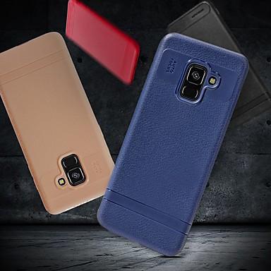 Недорогие Чехлы и кейсы для Galaxy А-Кейс для Назначение SSamsung Galaxy A5(2018) / A6 (2018) / A6+ (2018) Защита от удара / Ультратонкий / Матовое Кейс на заднюю панель Однотонный Мягкий ТПУ