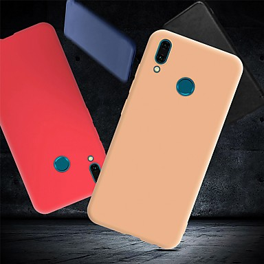 رخيصةأون Huawei أغطية / كفرات-غطاء من أجل Huawei Huawei Y9 (2018)(Enjoy 8 Plus) / Huawei Y7 Prime (2018) / Huawei Y7 Pro (2019) ضد الصدمات / نحيف جداً / مثلج غطاء خلفي لون سادة ناعم TPU