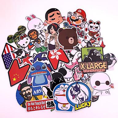 80 قطع مختلطة مضحك ماركة diy ملصقات مثير لل ديكور المنزل ملصقا صائق الثلاجة التزلج خربش سيارة دراجة نارية
