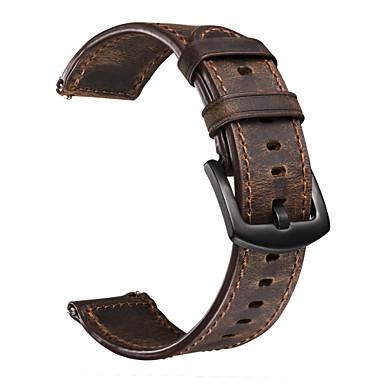 voordelige Horlogebandjes voor Samsung-Horlogeband voor Gear S3 Frontier / Gear S3 Classic / Huawei Watch GT Samsung Galaxy Klassieke gesp Echt leer Polsband