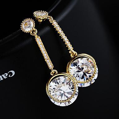 olcso Karika fülbevalók-Női Ezüst Kocka cirkónia Francia kapcsos fülbevalók S925 ezüst Fülbevaló Ékszerek Arany / Ezüst Kompatibilitás Esküvő Eljegyzés 1 pár