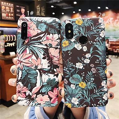 Недорогие Чехлы и кейсы для Xiaomi-Кейс для Назначение Xiaomi Xiaomi Redmi Note 6 / Xiaomi Redmi Note 7 / Xiaomi Mi 8 Матовое / С узором Кейс на заднюю панель Цветы Твердый ПК