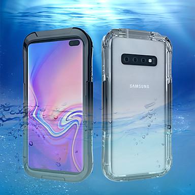 Недорогие Чехлы и кейсы для Galaxy S-Кейс для Назначение SSamsung Galaxy Galaxy S10 / Galaxy S10 Plus / Galaxy S10 E Защита от влаги Кейс на заднюю панель Однотонный Твердый пластик