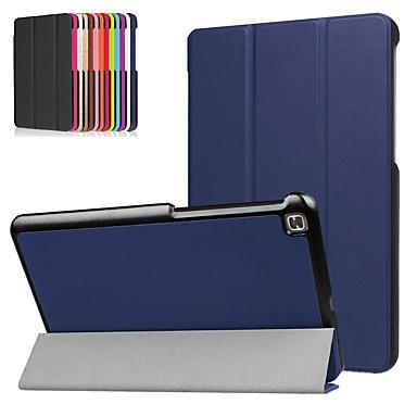 Недорогие Чехлы и кейсы для LG-Кейс для Назначение LG LG G Pad 4 8.0 P530 Защита от удара / со стендом / Ультратонкий Чехол Однотонный Твердый Кожа PU