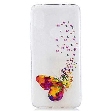 Недорогие Чехлы и кейсы для Xiaomi-чехол для xiaomi mi 8 lite / redmi 6 pro pattern / прозрачная задняя крышка цвет бабочка мягкая тпу для redmi note 6 pro / redmi 6a / redmi 6 / redmi 5plus / redmi 5 / redmi 5a