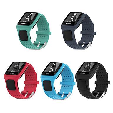 Недорогие Аксессуары для мобильных телефонов-силиконовый квадратный ремешок для часов браслет ремешок замена для TomTOM Multi-Sport / Tom Tom бегун GPS спортивные часы 1 серия ремешок для часов