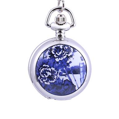 رخيصةأون ساعات الرجال-رجالي ساعة جيب كوارتز فضة إبداعي تصميم جديد مماثل موضة غني بالألوان - فضي