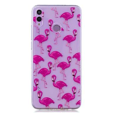 voordelige Huawei Mate hoesjes / covers-hoesje voor huawei honor 8x / huawei p smart (2019) patroon / transparante achterkant flamingo zachte tpu voor mate20 lite / mate10 lite / y6 (2018) / p20 lite / nova 3i / p smart / p20 pro