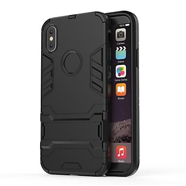 voordelige iPhone-hoesjes-hoesje voor apple iphone xs / iphone xr met standaard cover armor / effen gekleurde harde pc / tpu voor iphone x / iphone xs max / iphone xr