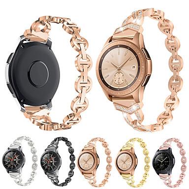 voordelige Smartwatch-accessoires-Horlogeband voor Samsung Galaxy Watch 46 / Samsung Galaxy Watch 42 Samsung Galaxy Klassieke gesp Metaal Polsband