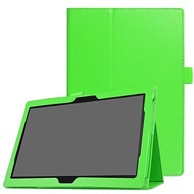 Недорогие Чехлы и кейсы для Lenovo-Кейс для Назначение Lenovo Lenovo Tab 4 8 Plus / Lenovo Tab 4 8 / Lenovo Tab 4 10 Plus Защита от удара / со стендом / Ультратонкий Чехол Однотонный Твердый Кожа PU
