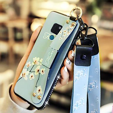 voordelige Huawei Y-serie hoesjes / covers-geval voor huawei honor 10 / huawei mate 20 met standaard / schokbestendige achterkant bloem zacht pu leer voor huawei y7 prime (geniet van 7 plus) / huawei y9 (2018) (geniet van 8 plus) / huawei mate
