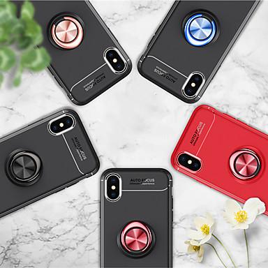 Недорогие Кейсы для iPhone 7 Plus-Кейс для Назначение Apple iPhone XS / iPhone XR / iPhone XS Max Защита от удара / Защита от пыли / Защита от влаги Кейс на заднюю панель Однотонный Мягкий ТПУ