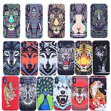 Недорогие Кейсы для iPhone 7-чехол для яблока iphone xs max / iphone 8 plus противоударный / светящийся в темноте задняя крышка животных мягкая тпу для iphone 7 / iphone 6 plus / iphone 6s / iphone xs / iphone xr