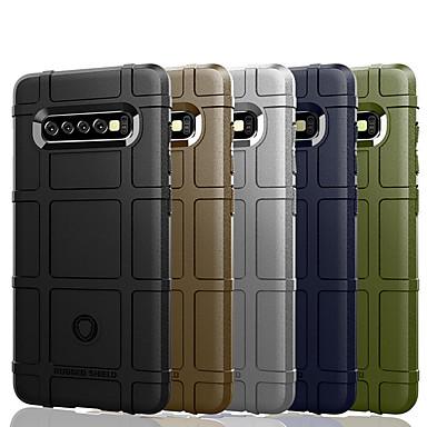 رخيصةأون حافظات / جرابات هواتف جالكسي S-غطاء من أجل Samsung Galaxy S9 / S9 Plus / S8 Plus ضد الصدمات / ضد الغبار / مقاوم للماء غطاء خلفي لون سادة / نموذج هندسي ناعم TPU