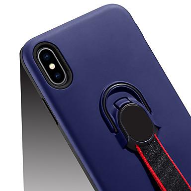 voordelige Galaxy A-serie hoesjes / covers-hoesje Voor Samsung Galaxy A6 (2018) / Galaxy A7(2018) / A8 2018 met standaard / Ringhouder Achterkant Effen Hard PC