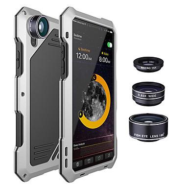 Недорогие Кейсы для iPhone X-противоударная металлическая задняя крышка с 3-мя объективами для iphone x 7/8 7/8 plus