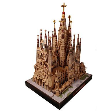 رخيصةأون 3D الألغاز-قطع تركيب3D نموذج الورق مجموعات البناء بناء مشهور Church اصنع بنفسك محاكاة ورق صلب كلاسيكي للأطفال للجنسين للصبيان ألعاب هدية