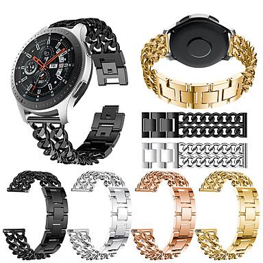 Недорогие Часы для Samsung-Ремешок для часов для Gear S3 Frontier / Gear S3 Classic / Samsung Galaxy Watch 46 Samsung Galaxy Спортивный ремешок Нержавеющая сталь Повязка на запястье