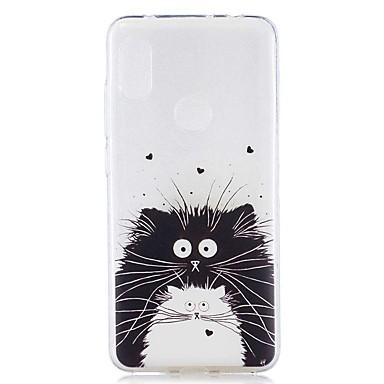 kutija za xiaomi mi 8 lite / redmi 6 pro uzorak / prozirna stražnja maska crno-bijela mačka soft tpu za redmi note 6 pro / redmi 6a / redmi 6 / redmi 5plus / redmi 5 / redmi 5a